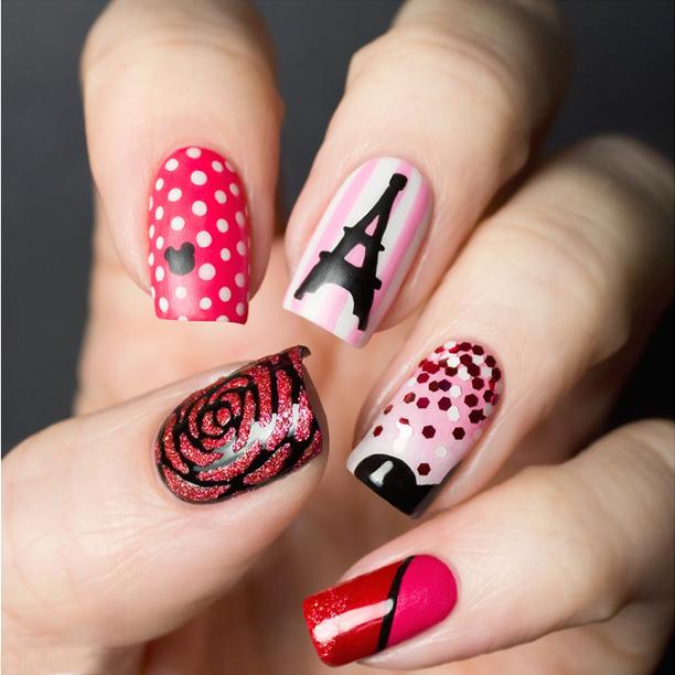 Angel La Vie Favourite Paris Inspired Nail Designs