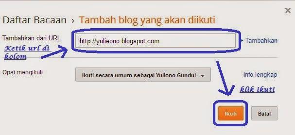 Cara mudah Follow dan Follower Antar Sesama Blogger
