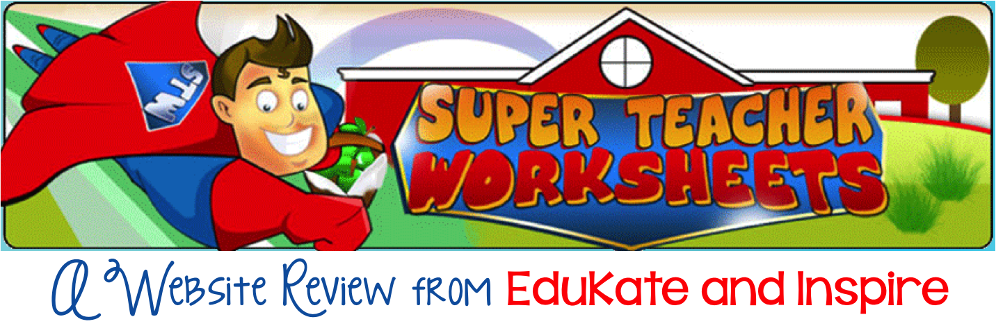 Super Teacher Worksheets A Review and Giveaway EduKate and Inspire – Superteacher Worksheet