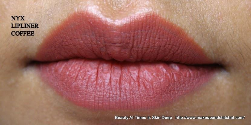 NYX Lip Liner Coffee Lipswatch NC 42