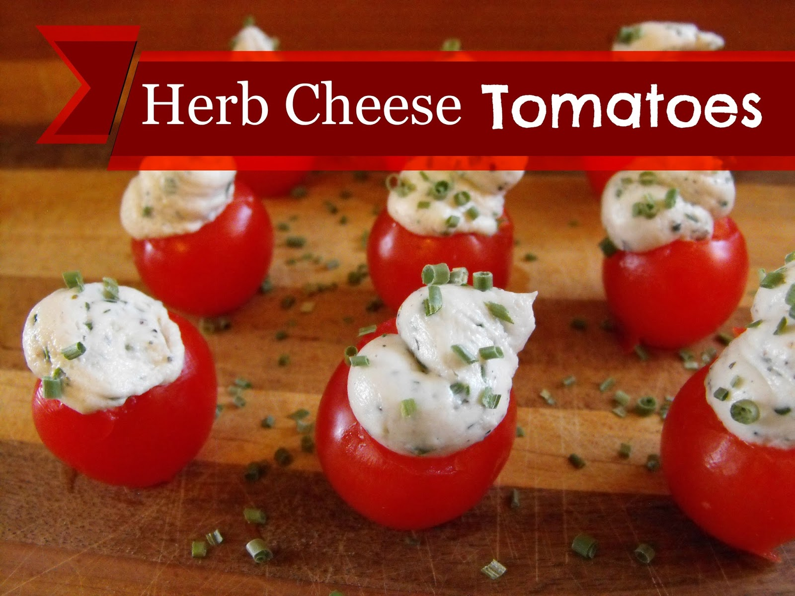 dairy free cream cheese herb filled tomatoes