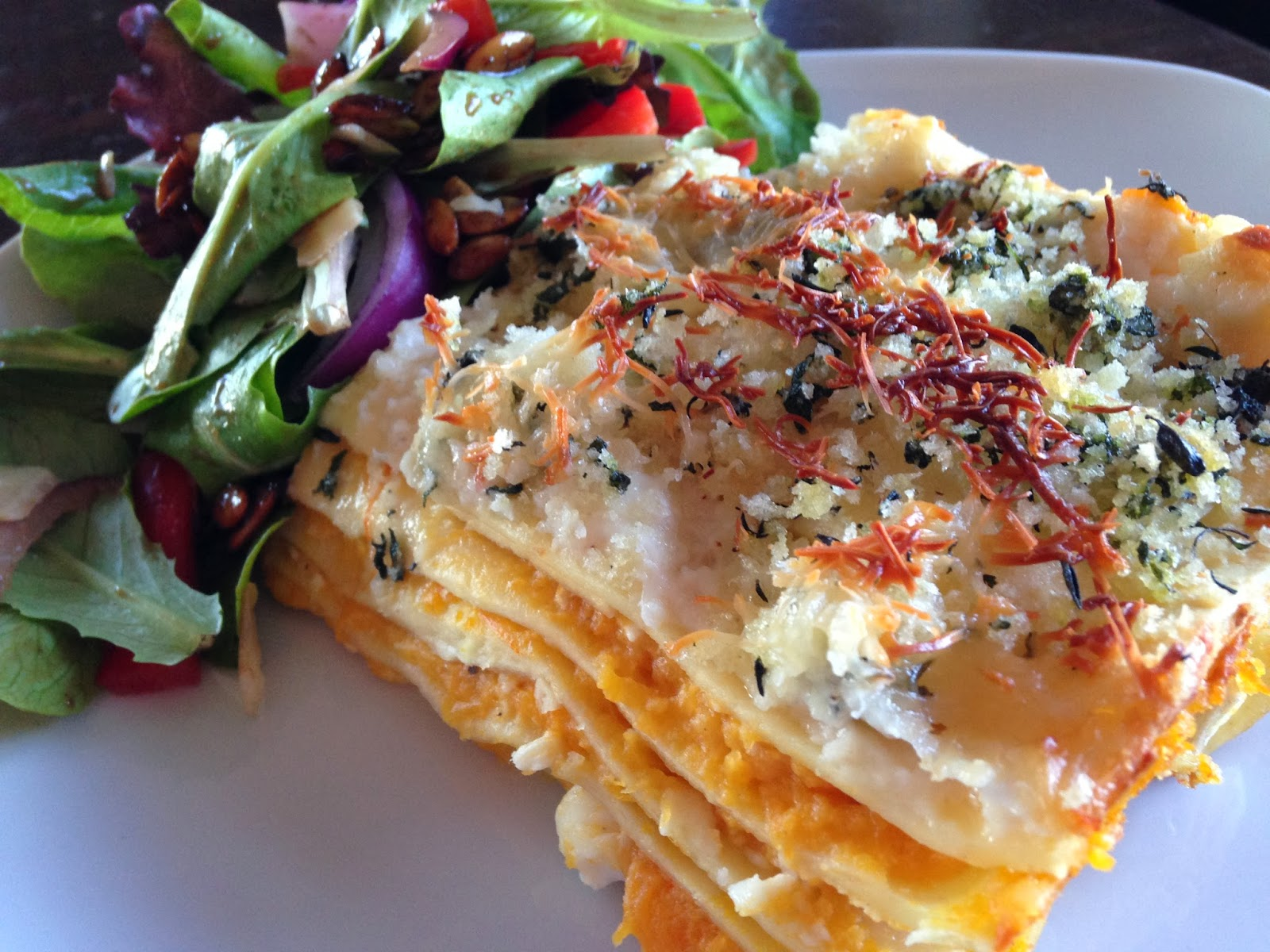 Roasted Butternut Squash Lasagna Recipe — Dishmaps