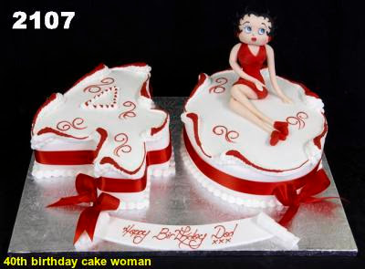 40th birthday cake woman