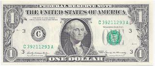 Equivalencia del dólar en otras monedas