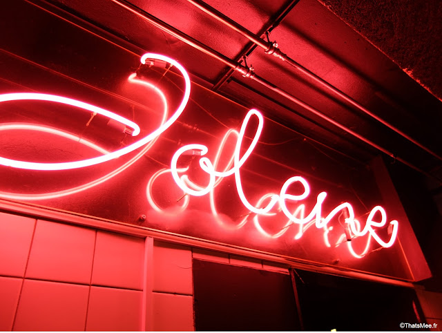 Bar dansant club Jolene, Meatpacking Copenhague neon rose