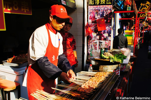 Wanfujing Snack Street Skewers Beijing China