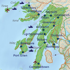 Map of Argyll and Bute Province