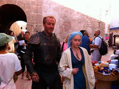 Ser Jorah y Dany en el rodaje de la tercera temporada - Juego de Tronos en los siete reinos