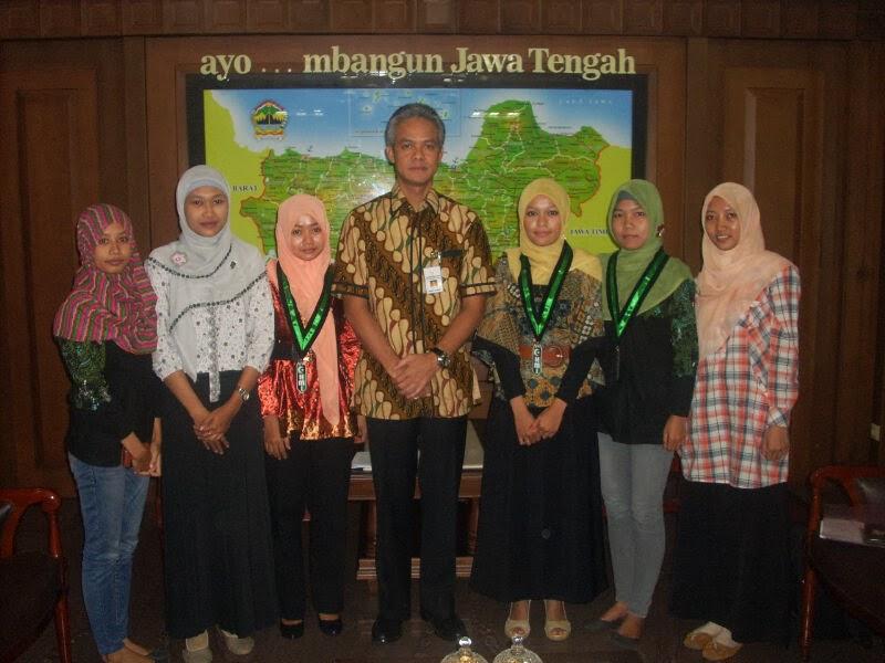 Kohati Badko HMI Jateng-Yogyakarta dan Gubernur Jawa Tengah Ganjar Pranowo
