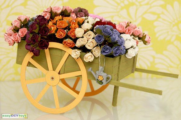 Crafts Paper Flowers-cart