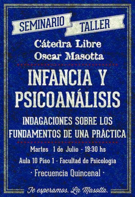 Infancia y Psicoanálisis