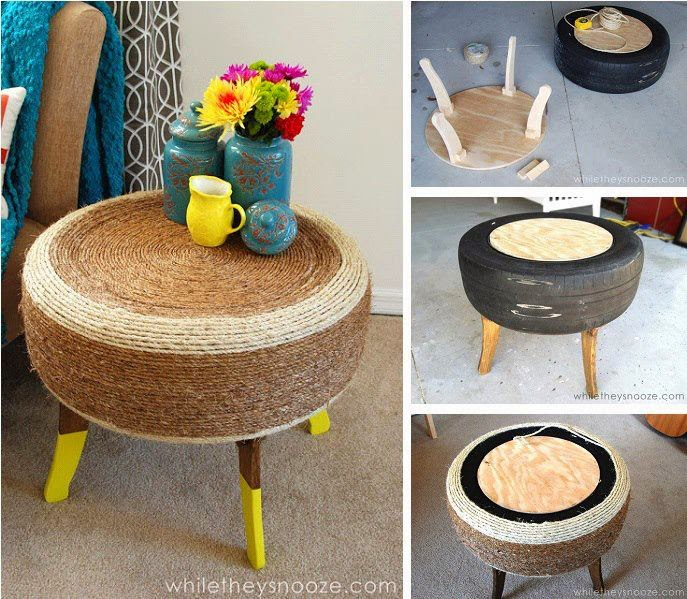 DIY Tyre Table