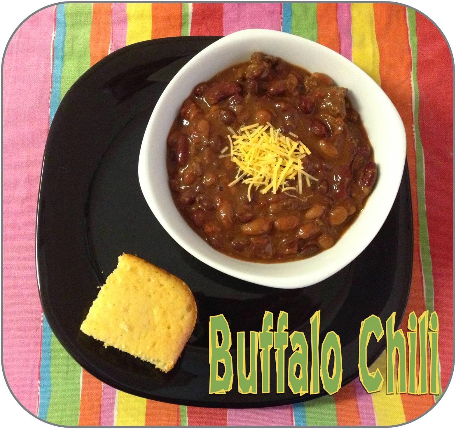 Buffalo Chili ~ Life in Random Bits #crockpot #recipe #chili #beans