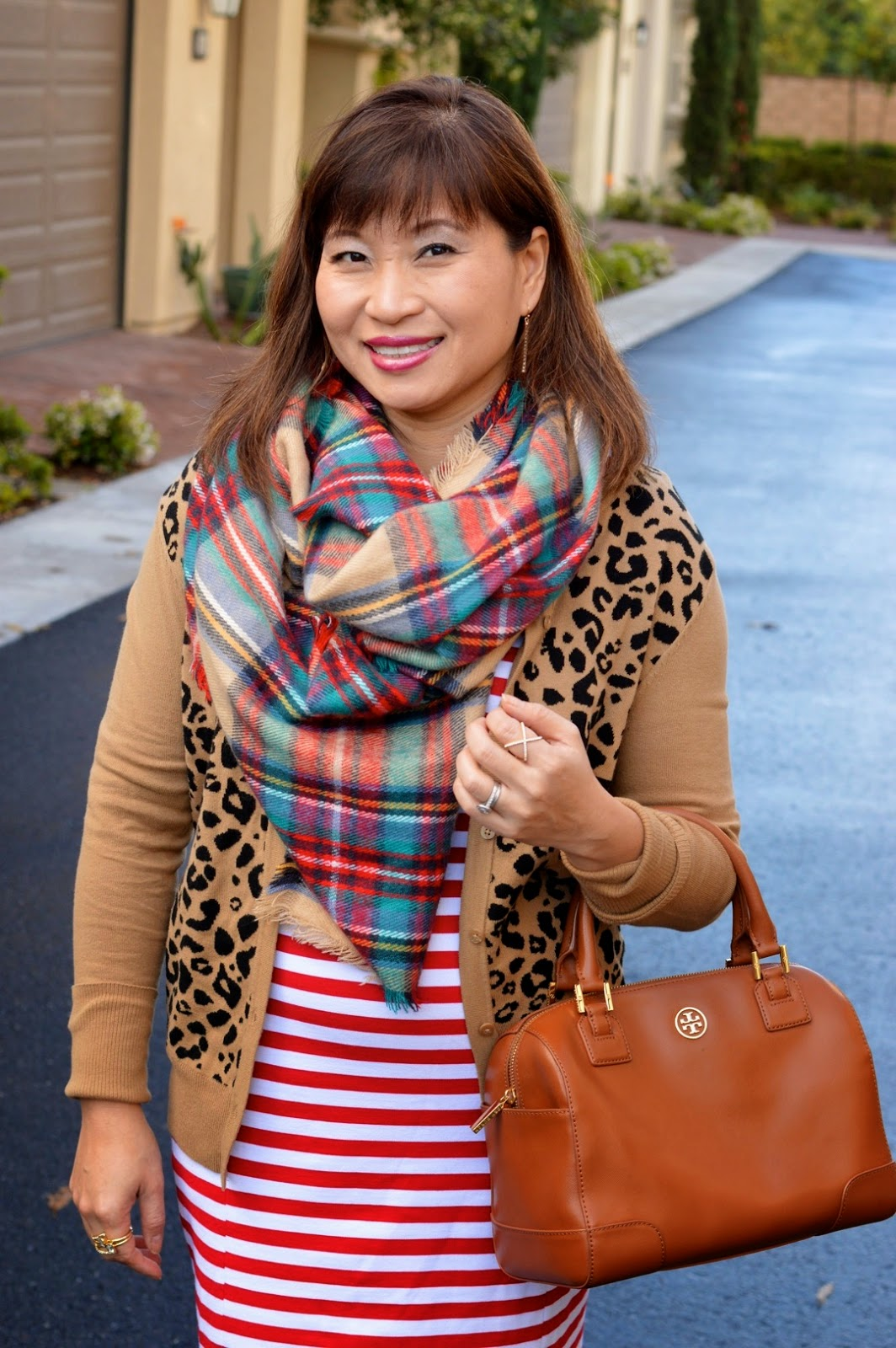 Pattern Mixing, OC Blogger, leopard and plaid
