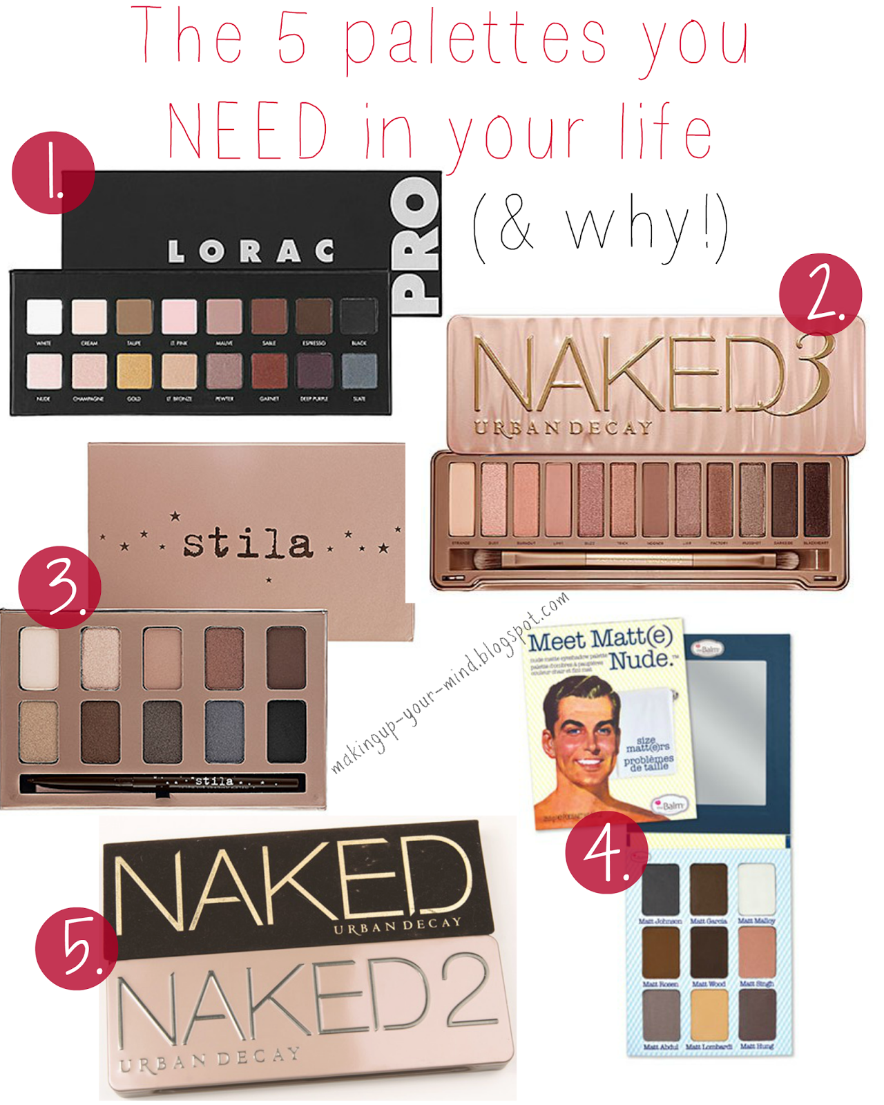 The 5 palettes you NEED in your life & why!