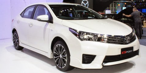 Toyota Corolla Altis luxury Esport 'stripped' in Thailand