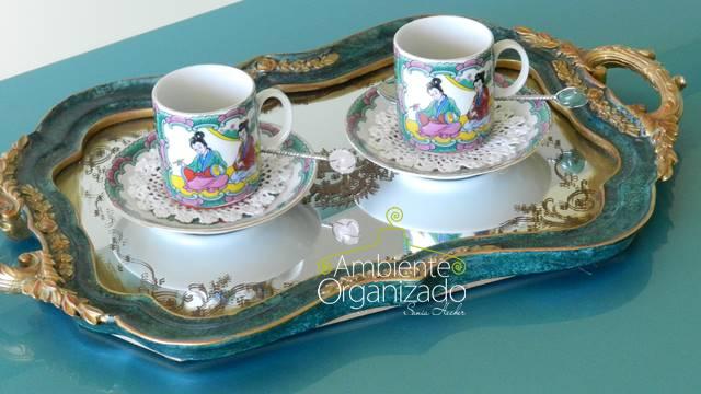 Xícaras de cafezinho chinesas