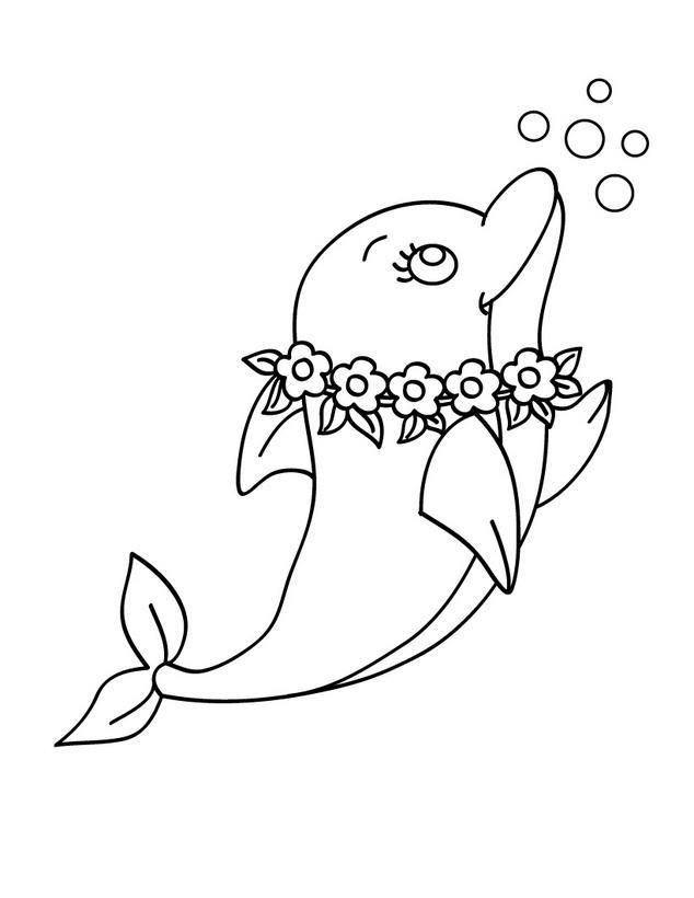 Раскраски для девочек дельфины