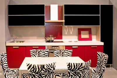 Modern black and red kitchen designs ideas furniture 2015