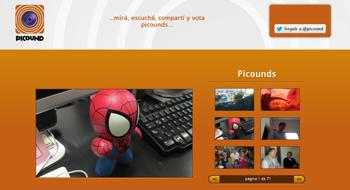 agregale sonidos a tus fotos con Picound - www.dominioblogger.com