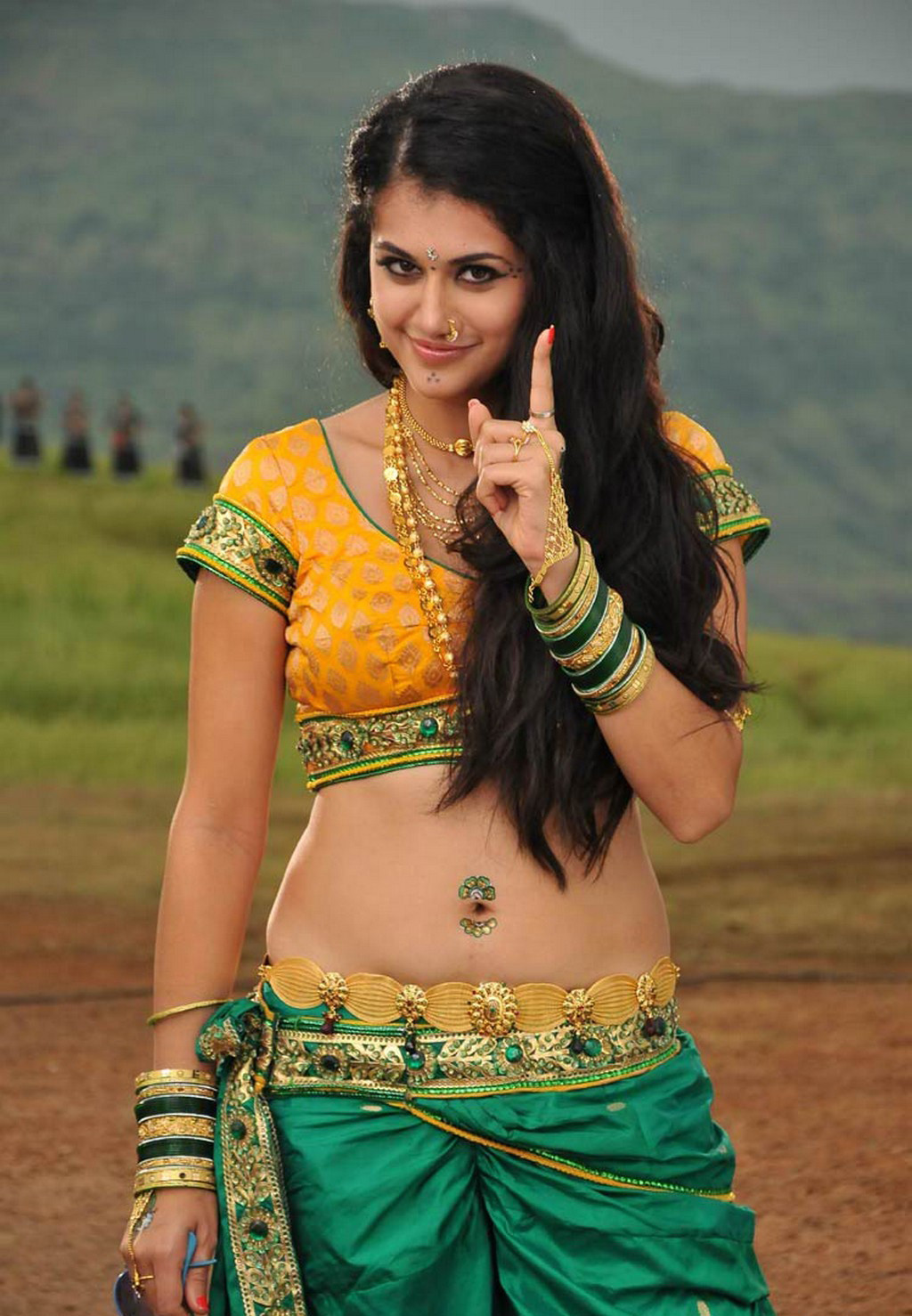 Tapsee at outdoor shoot