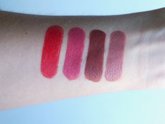 Wet 'n Wild, wetnwild, MegaLast lip colour, lipstick, review, coral-line, rosebud, sand storm, bare it all