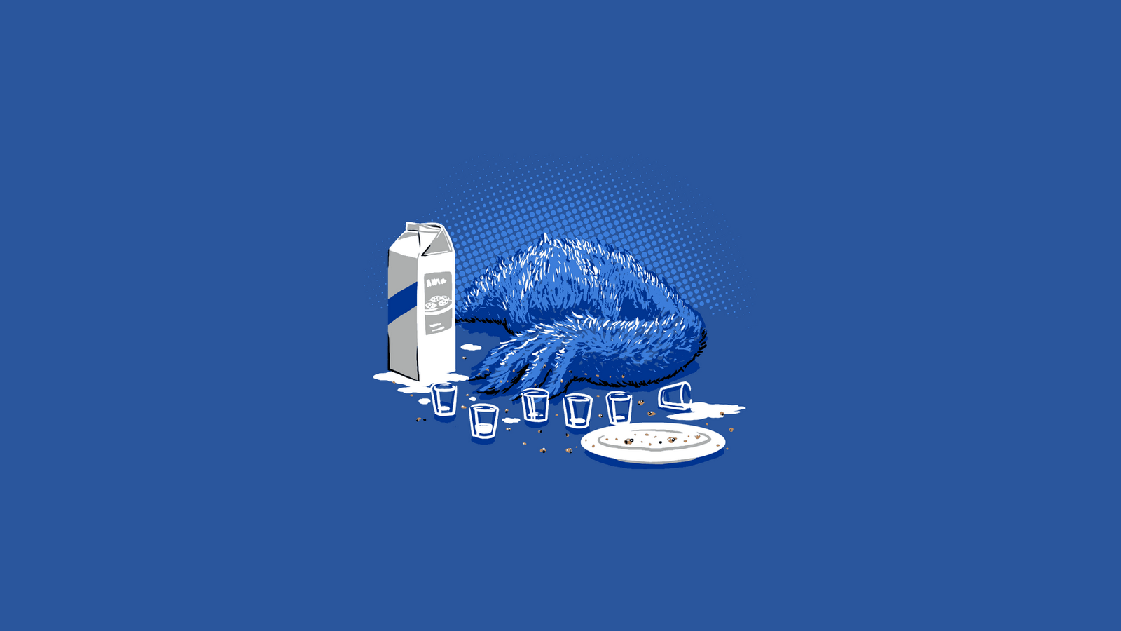 Wallpaper a day: overdosed drunk cookie monster threadless ...