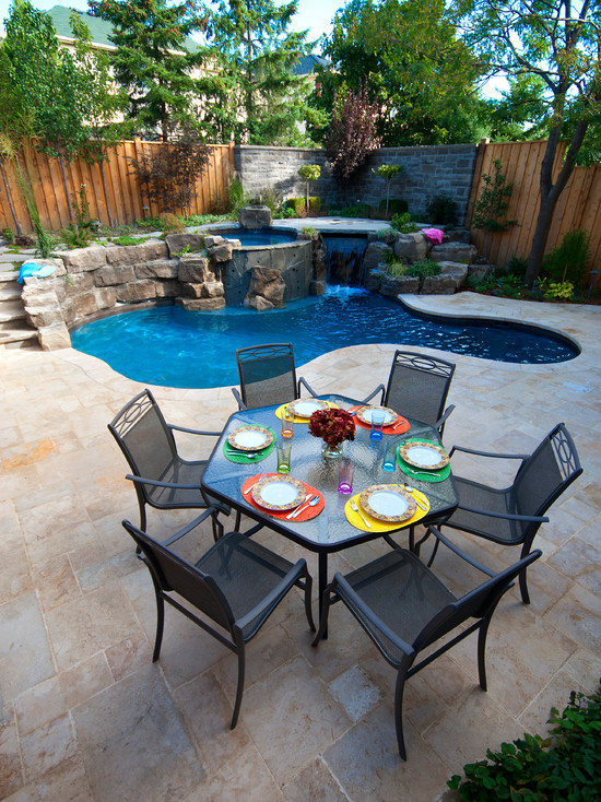 ide kolam renang kecil minimalis desain denah rumah minimalis
