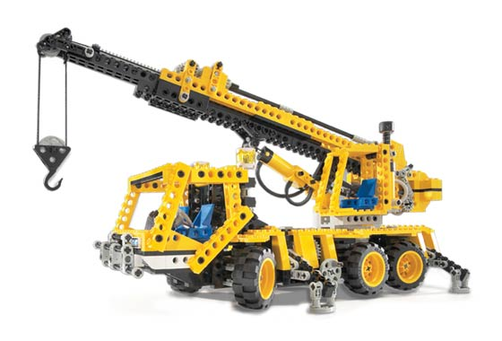 set database lego 8438 pneumatic crane truck. Black Bedroom Furniture Sets. Home Design Ideas