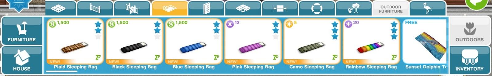 Sleeping Bags Living Room