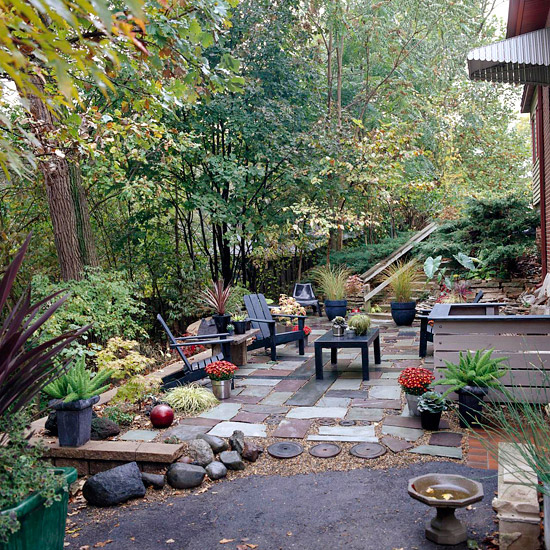 In en om die huis lae onderhoud hergebruik kuier tuin for Tuin allen idee