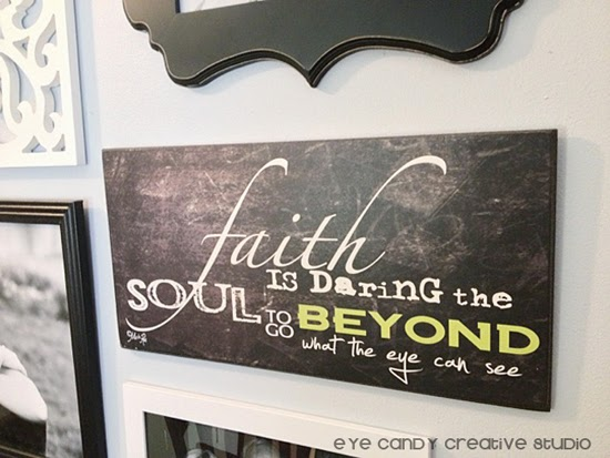 faith artwork, christian artwork, black and white gallery wall