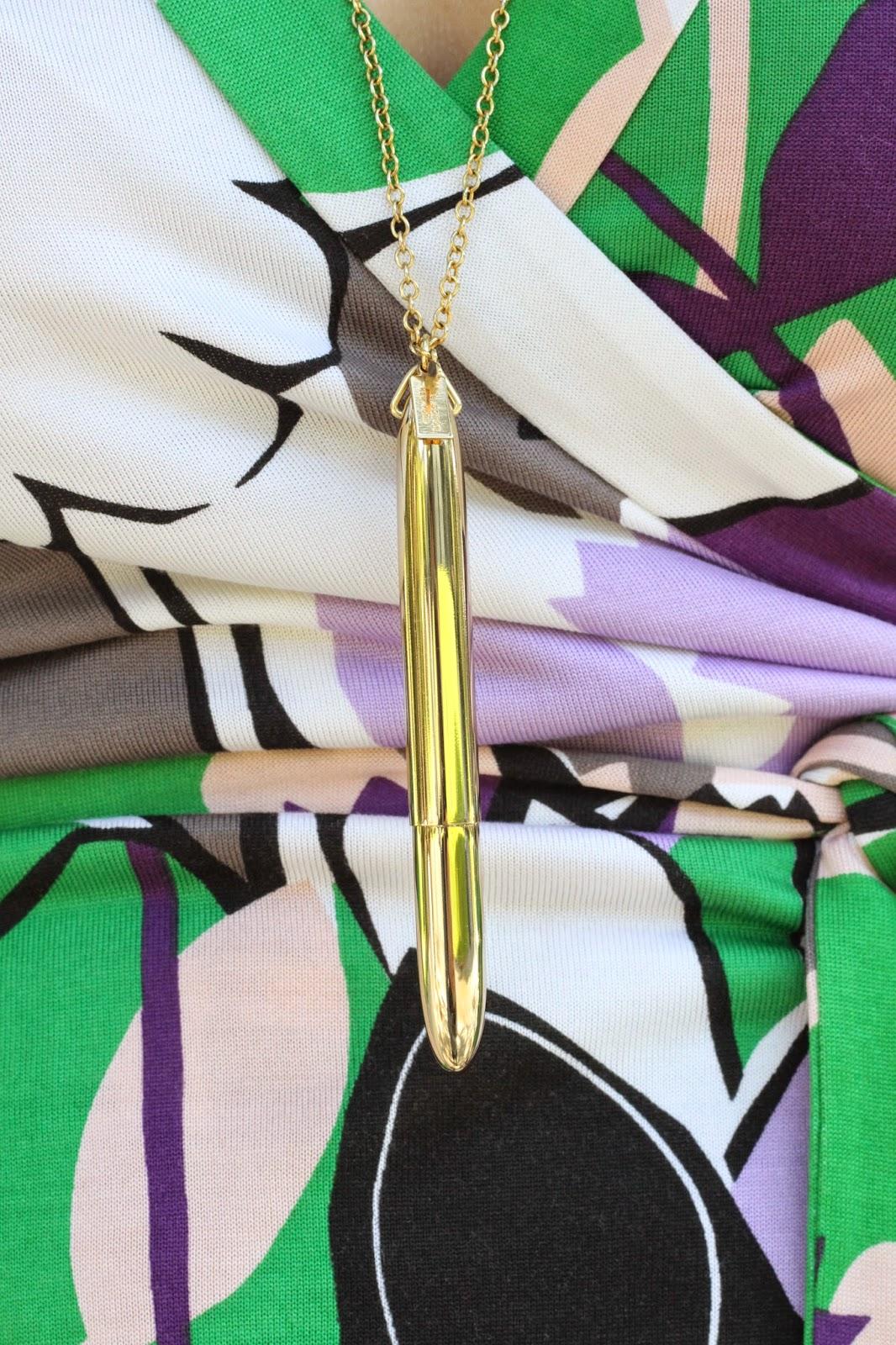 Kate Spade Pen Necklace