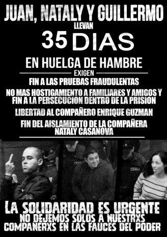 SOLIDARIDAD Y ACCIÓN CON LXS COMPAÑERXS EN HUELGA DE HAMBRE DESDE EL 14 DE ABRIL!!! ADELANTE, Y EN