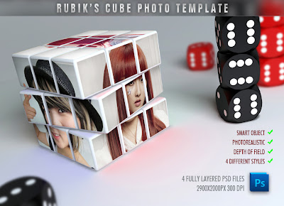 creative, cube, mock-up, mockup, photo, art, photo mask, professional, psd, photo templates, rubik, rubik's, rubric, template, templates, ryan mahendra