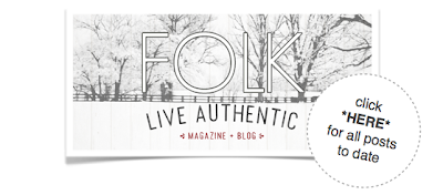 Funky Junk Interior's roundup #1 of new posts at FOLK Magazine's blog