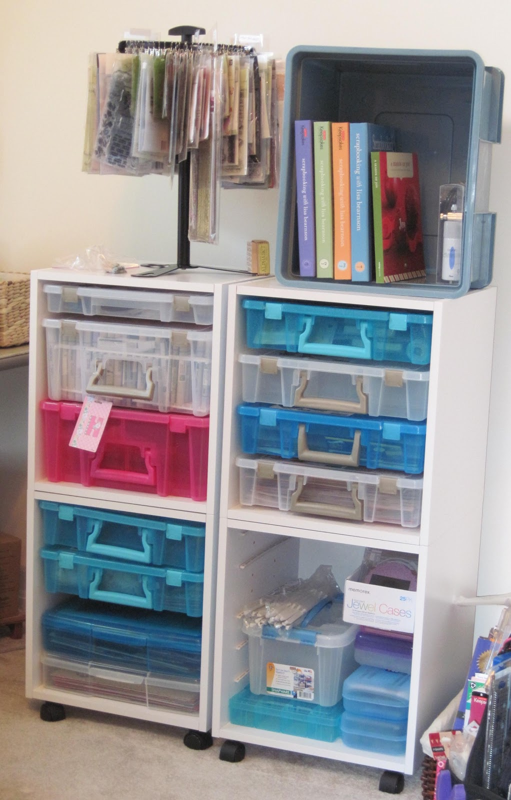 To Cut Or Color Scrapbook Storage
