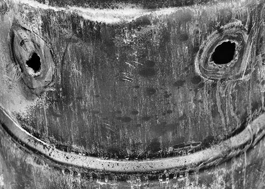 smiley face, black and white, photography, urban, art, contemporary, Sam Freek,