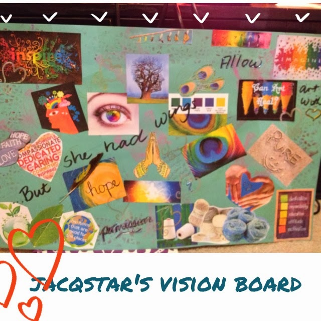 vision board for my creative business Jacqstar Creations