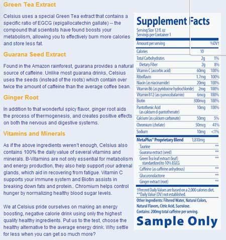 Celsius drink ingredients