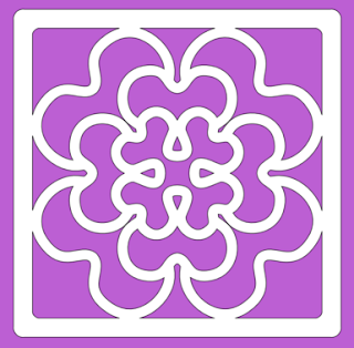tile geranium free paper cutting pattern
