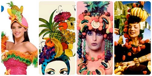 Sombrero de frutas collage