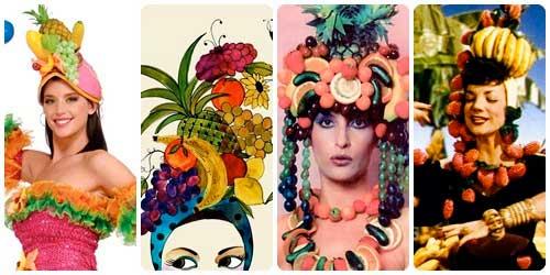 Sombrero de frutas collage