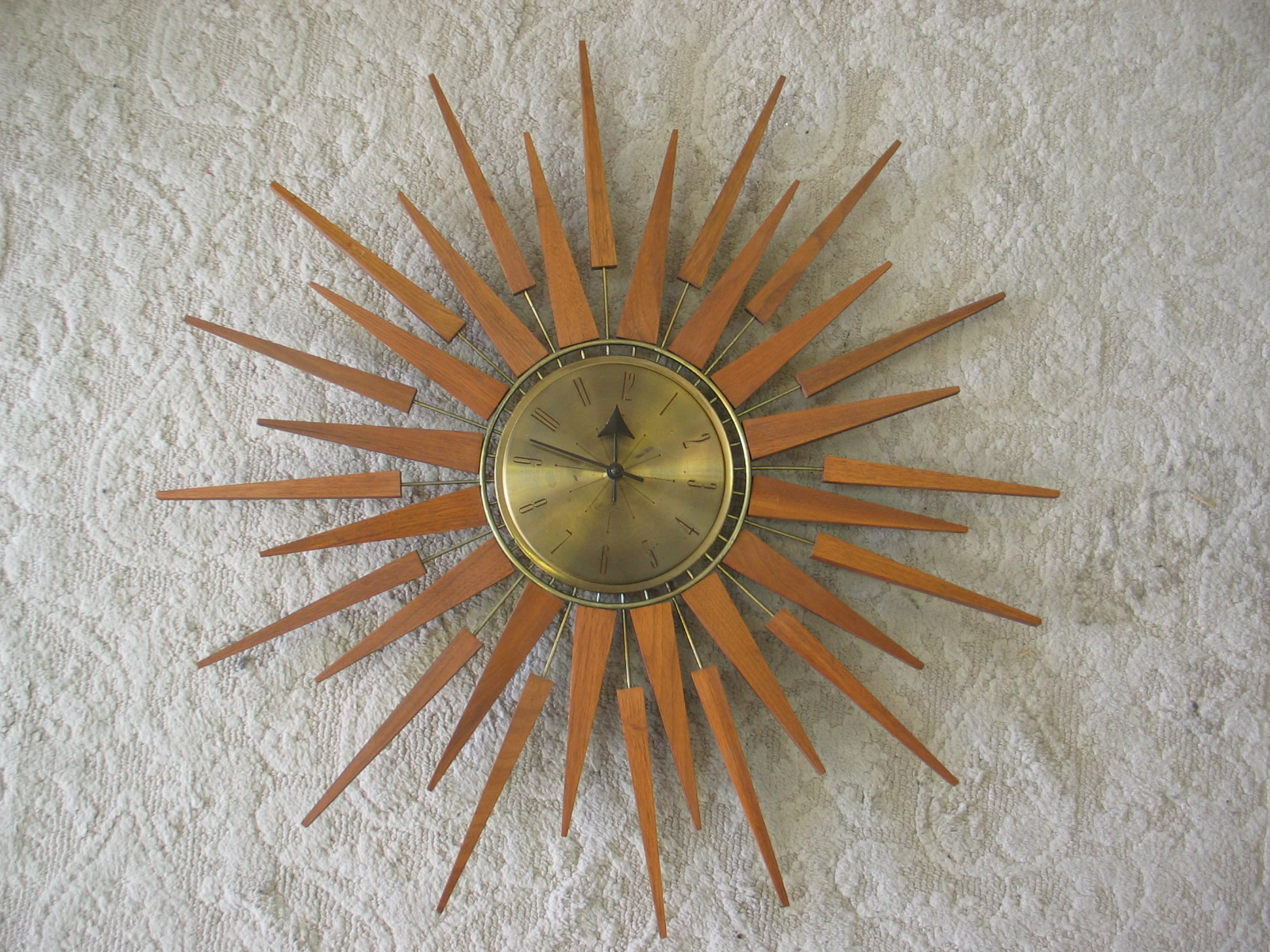 daveu0027s mid century stuff seth thomas sunburst or is it starburst clock