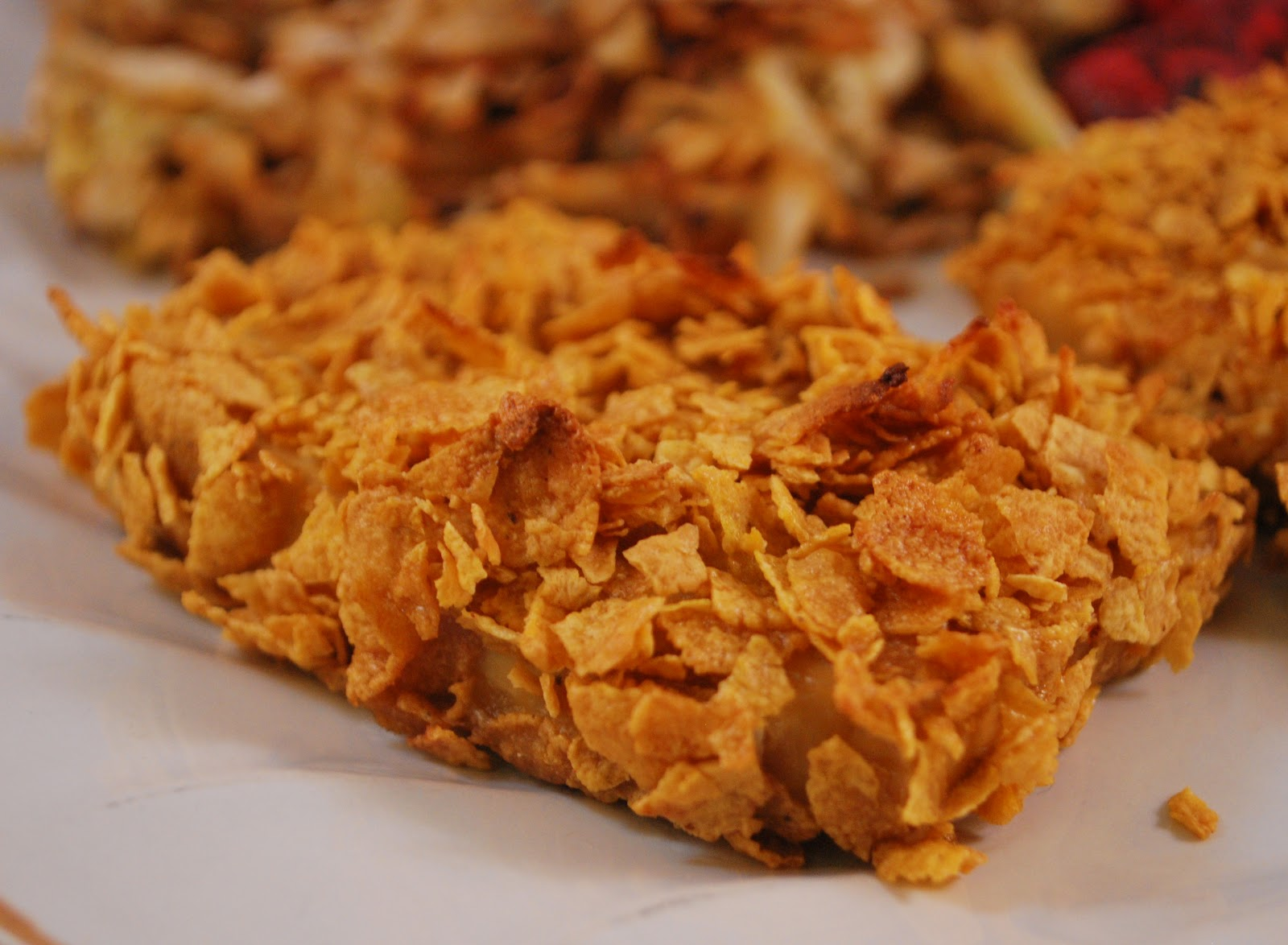 "Oven-fried Corn Flake Chicken! ""Crispy and healthily baked, not fried ..."