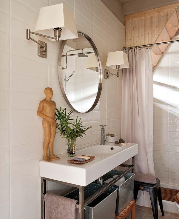 proyecto decoracion rustico vintage-baño pequeño