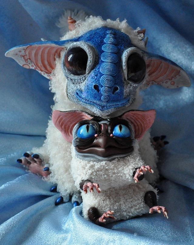 Criaturas adoráveis de pelúcia criadas por Santaniel