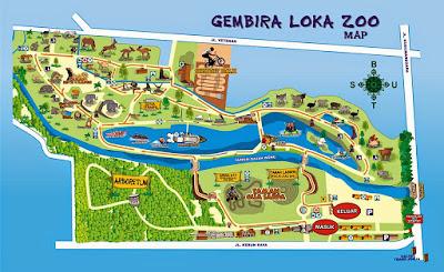 Peta Kebun Binatang Gembira Loka Yogyakarta