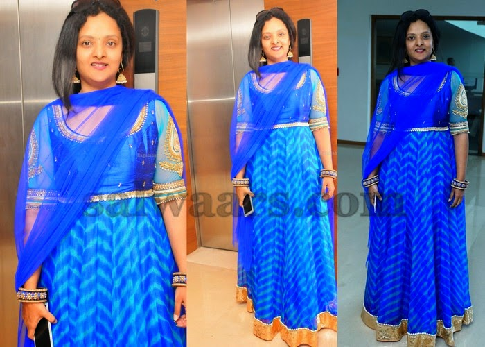 Deepthi Shree Georgette Floor Lenth Salwar