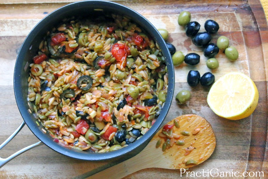 Spanish Orzo with Olives